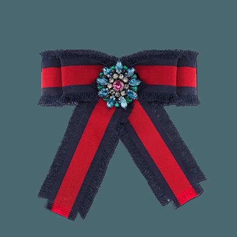 织带罗缎蝴蝶结胸针