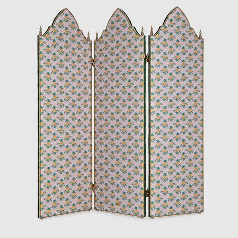 饰菠萝图案三扇式屏风