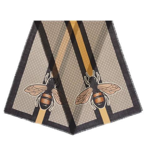 蜜蜂织带印花披肩