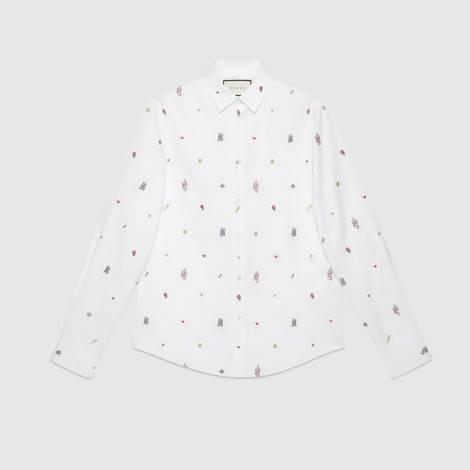 符号图案牛津棉杜克衬衫