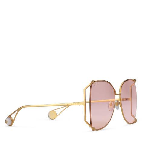 超大号圆形镜框金属太阳眼镜