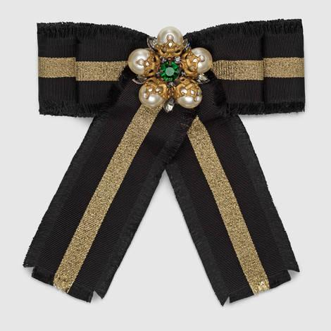 饰织带罗缎蝴蝶结胸针