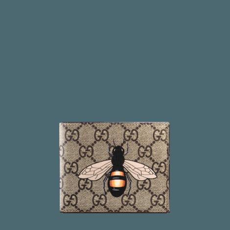 蜜蜂印花高级人造帆布钱包