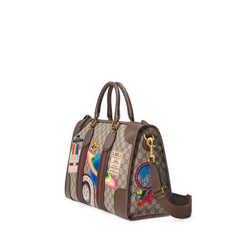 Gucci Courrier系列柔软高级人造帆布行李袋