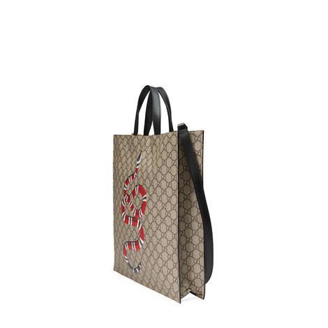 珊瑚蛇印花柔软高级人造帆布购物袋