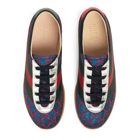 Falacer系列饰条纹织带双G印花运动鞋