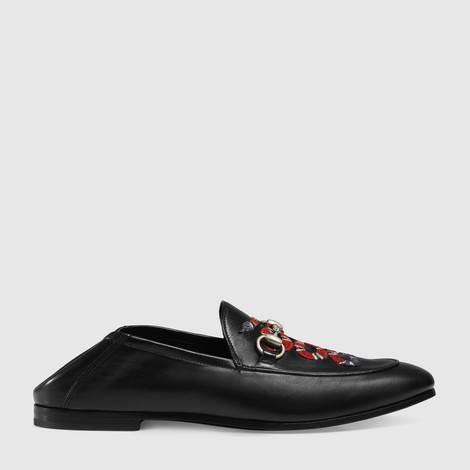 珊瑚蛇图案皮革乐福鞋