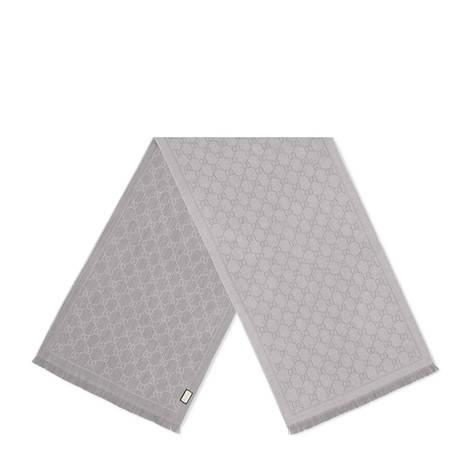 GG 提花图案针织围巾