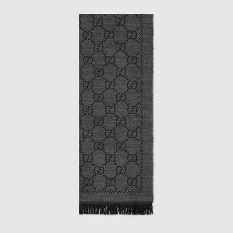 GG 提花图案针织丝巾