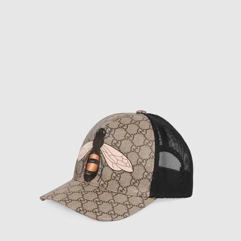 蜜蜂印花高级人造帆布棒球帽