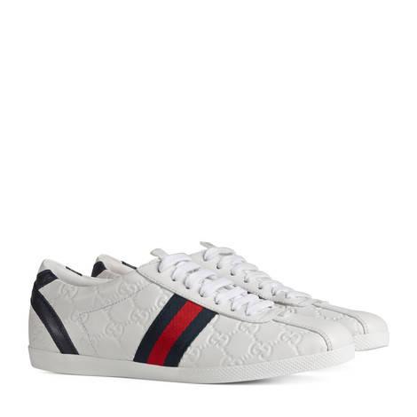 Guccissima 皮革系带运动鞋