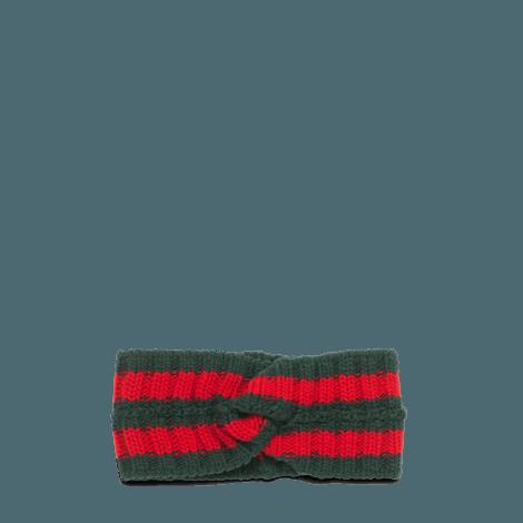 条纹织带发带