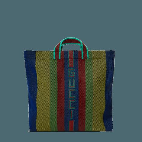 编织橡胶Gucci购物袋
