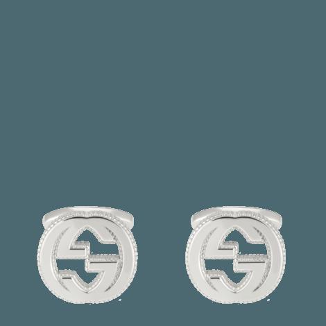 Interlocking G纯银袖扣