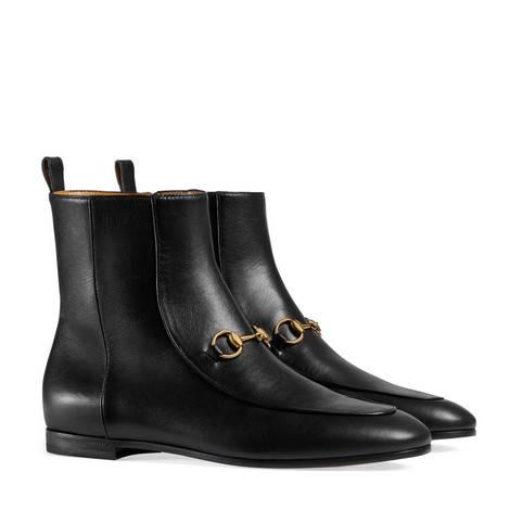 Gucci Jordaan系列皮革及踝靴