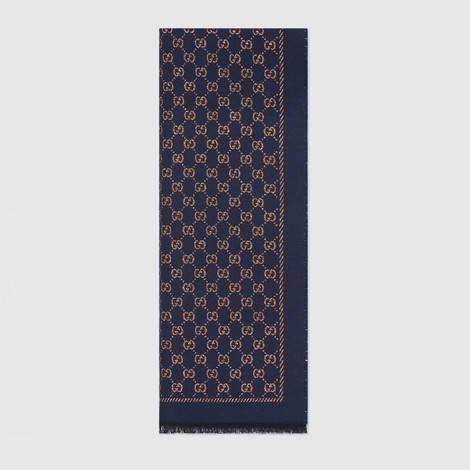 金属质感GG羊毛围巾
