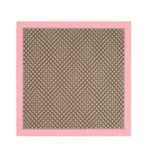 GG蜜蜂图案真丝围巾