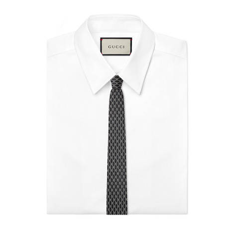 GG链条图案真丝领带