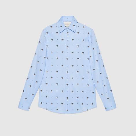 UFO和符号图案切丝衬衫