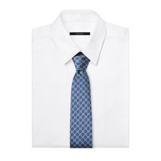 GG 图案真丝提花领带