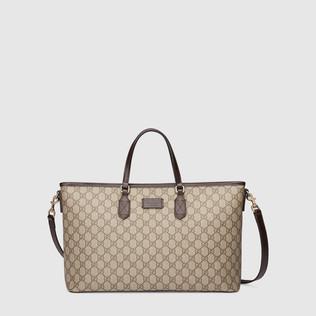 GG Supreme高级人造革购物袋
