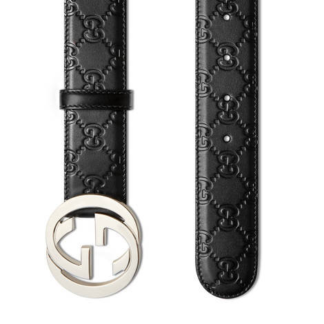 Gucci Signature皮革腰带