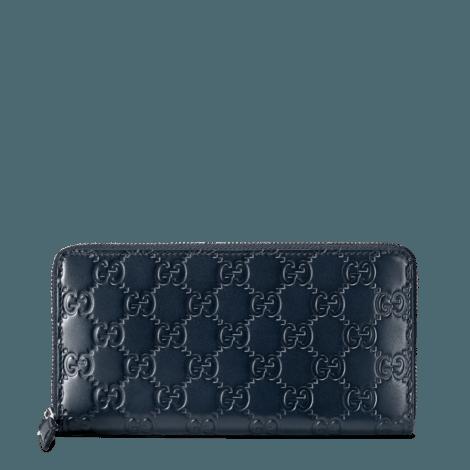 Gucci Signature皮革全拉链式钱包