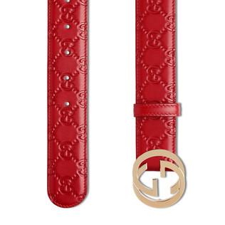 Gucci Signature 皮革皮带
