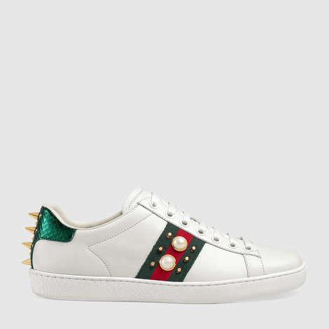Ace系列铆钉造型皮革运动鞋