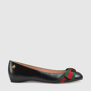 皮革平底鞋