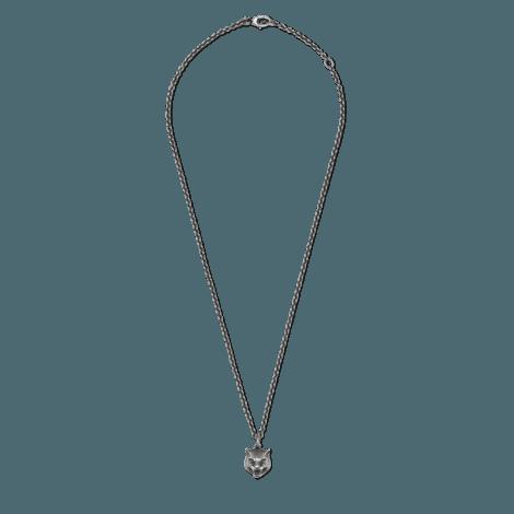 虎头银项链