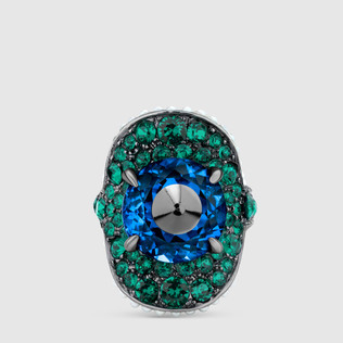 铆钉水晶戒指
