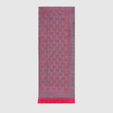 GG提花羊毛围巾