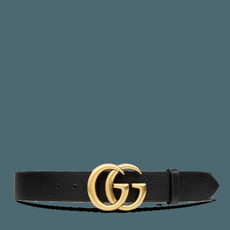 双G带扣皮革腰带