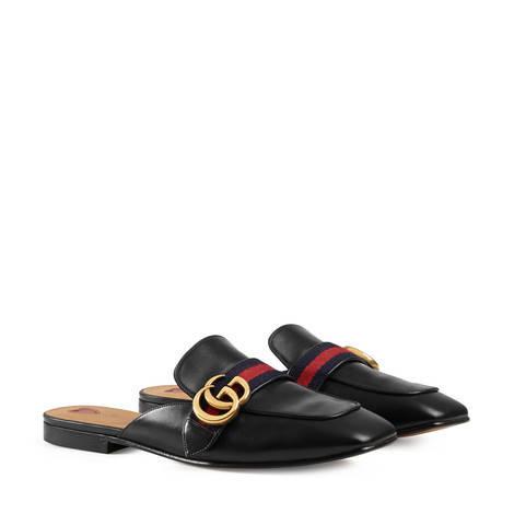 双G皮革拖鞋