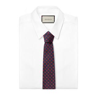 GG图案真丝领带