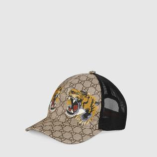 老虎印花GG高级人造革棒球帽