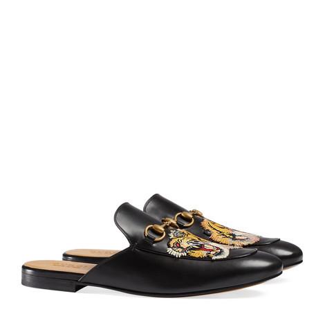 Princetown 系列老虎刺绣拖鞋