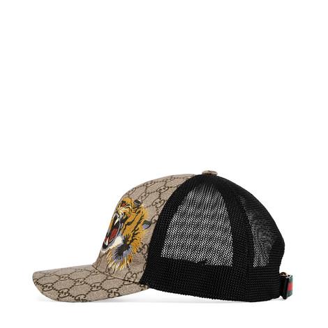 老虎印花高级人造帆布棒球帽