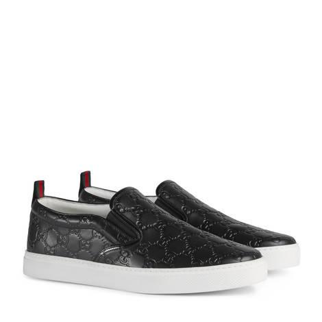 Gucci Signature 皮革运动鞋
