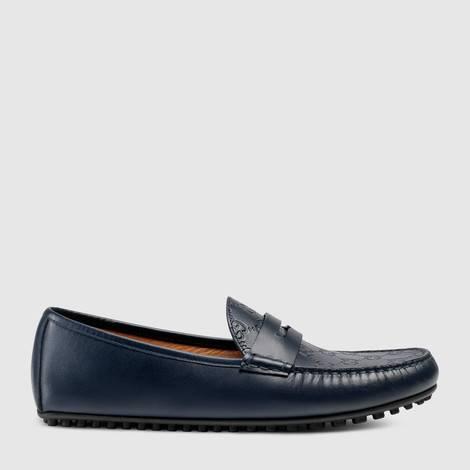 Gucci Signature皮革驾车鞋