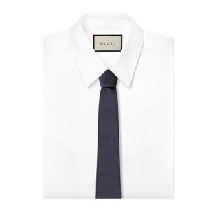 蜜蜂织带真丝领带