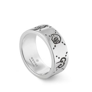 GucciGhost银色戒指