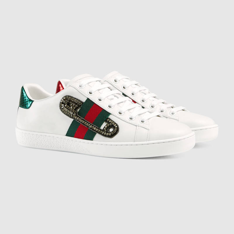 GUCCI Ace Embroidered Low-Top Sneaker Tiger