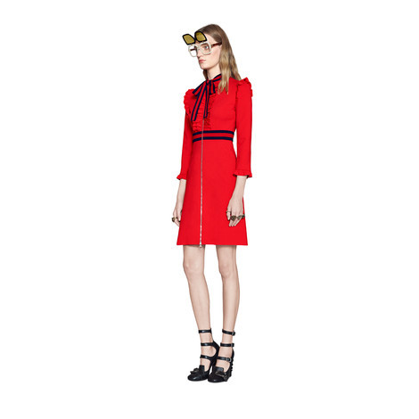 粘纤针织连衣裙