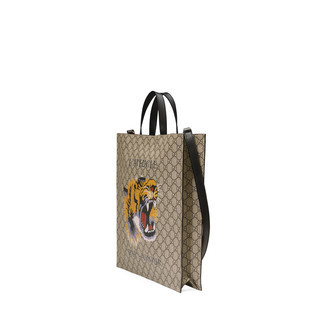 老虎印花柔软GG高级人造革购物袋