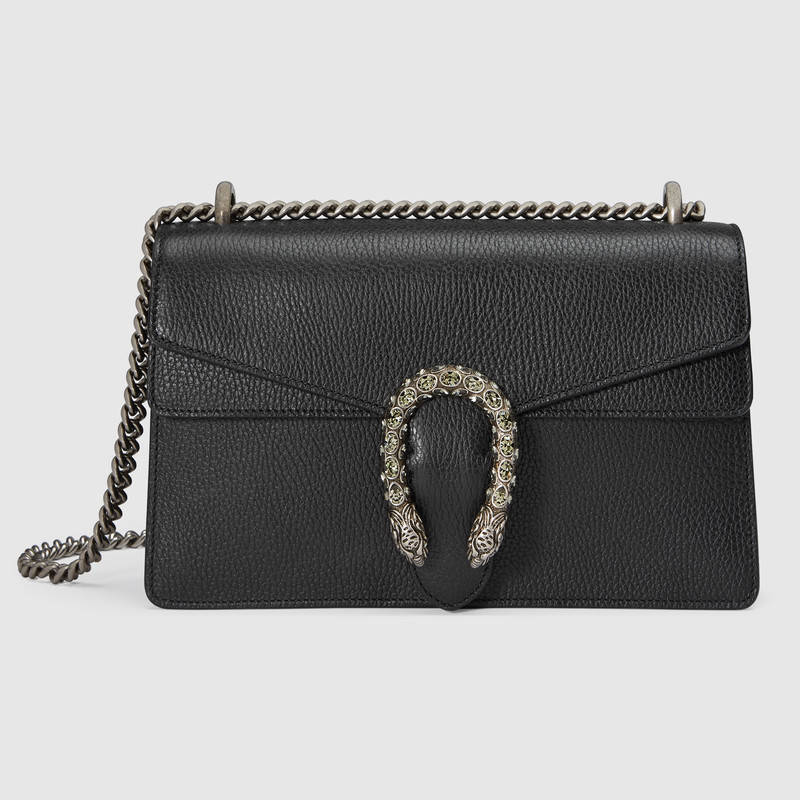 808e8a09ee8 Gucci Small Dionysus Leather Shoulder Bag - Black In 8176 Black ...