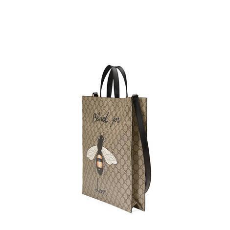 蜜蜂印花GG Supreme高级人造帆布购物袋