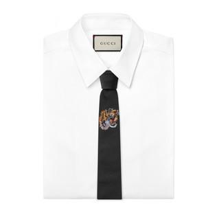 扭结下老虎真丝领带