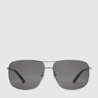 方形镜框金属太阳眼镜